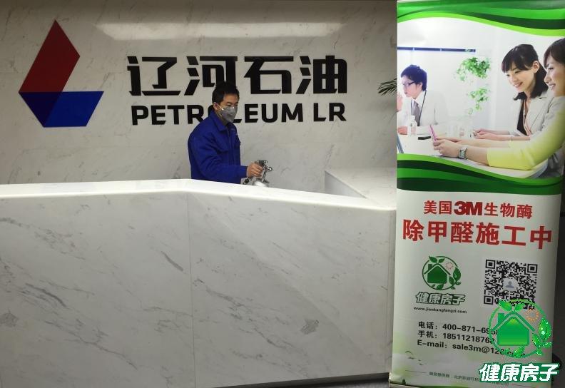 辽河石油公司前台治理施工图片