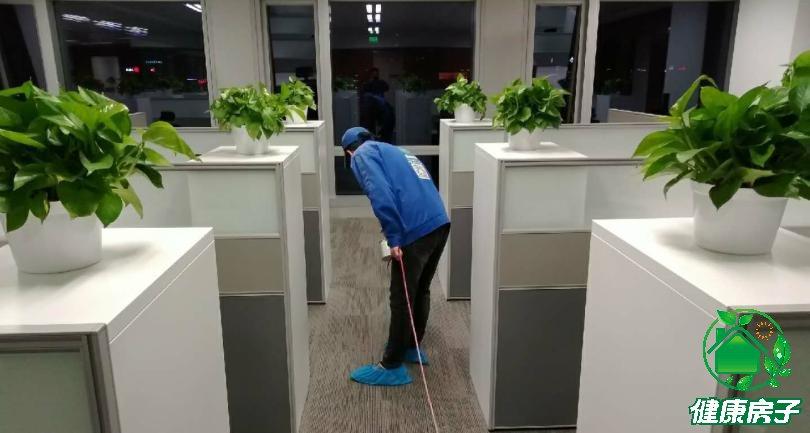 办公室除甲醛治理施工现场